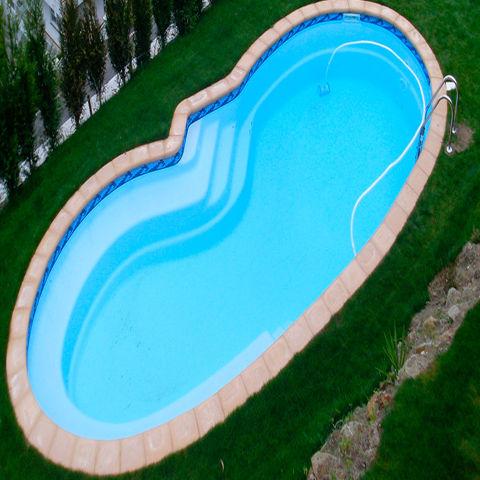Piscina elipsa 9 95 x 3 85 piscinas de poliester for Piscina cuadros leon