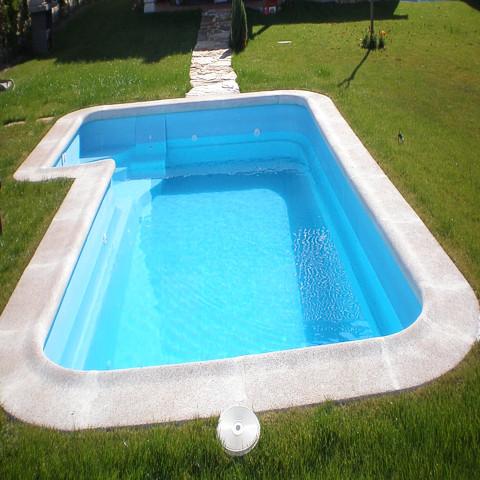 Piscinas hasta 6 metros piscinas de poliester daype for Precios piscinas