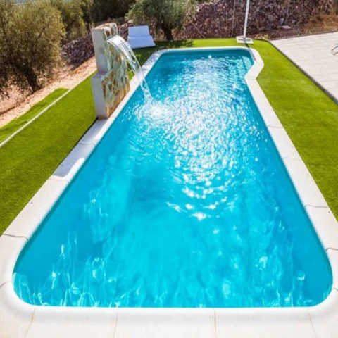 Piscina haiti 10 00 x 4 00 piscinas de poliester for Piscina en jardin de 100 metros